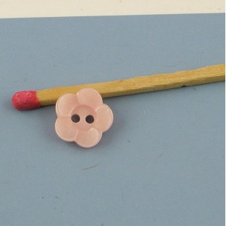 Flower plastic button 1 cm