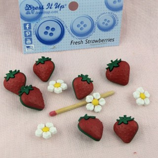 Boutons fraises fruits Dress it Up