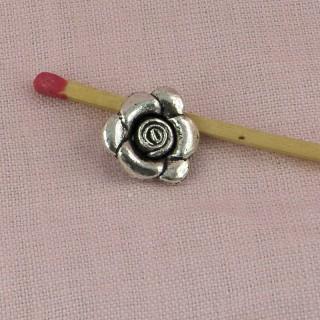Rose flower bracelet charm, pendant 2 cm