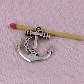 Breloque Ancre bateau métal pirate 3 cm