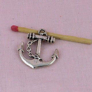 Pendant Anchor pirates boat, charm, miniature, 3 cms.