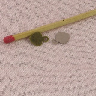Heart tiny, small pendant, charm , doll jewel heart, 5mms