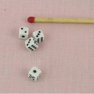 Dés à jouer miniature poupée 5 mm