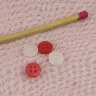 Bouton mat  à rebord, 6 mm.