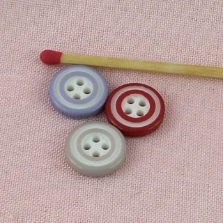 Bouton bicolore cercle couleur 13 mm