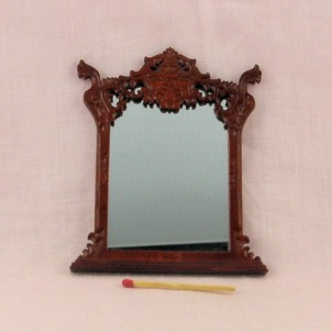 Large wooden mirror doll house 9cms.