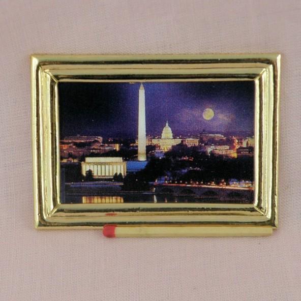 Cadre médaillon, tableau miniature, maison de poupée, 2,3cm
