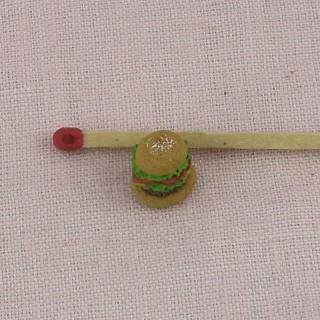 Cheeseburger miniature maison poupée