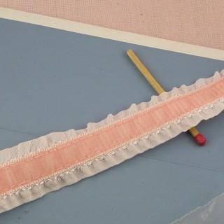 Band Hutband im plissierten Steuer 2 cm.