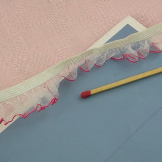 Flounced organza ribbon wrinkled 2 cms