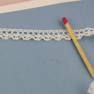 Dentelle fine coton 1 cm 10 mm