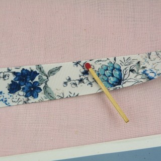 Flowers Grosgrain ribbon 3 cm.