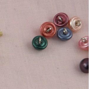 Boton perla nacarada rueda 1 cm.