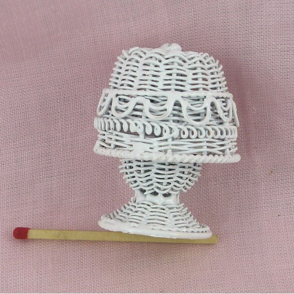 Lampe en métal tressé miniature