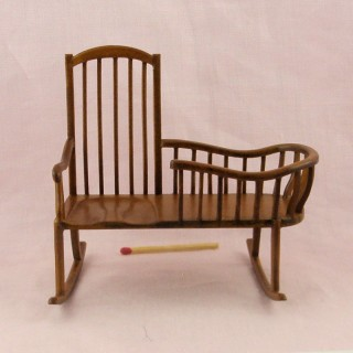 Miniature dollhouse Windsor nanny rocker