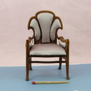 Armchair miniature mahogany  , doll house living room