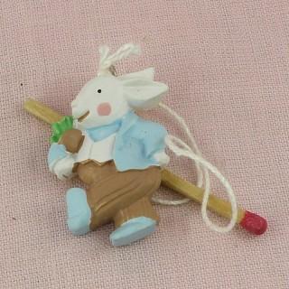 miniature  rabbit decoration Easter