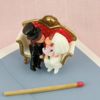 Miniature lover couple married