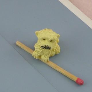 Kleiner Hund Caniche Haus Puppe, 2 cm.