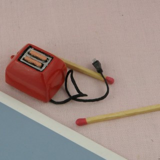 Small Toaster miniature for doll house 2 cms.
