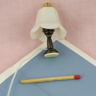Miniature table  lamp floral luxurious 5 cms,  miniature decoration doll's house..