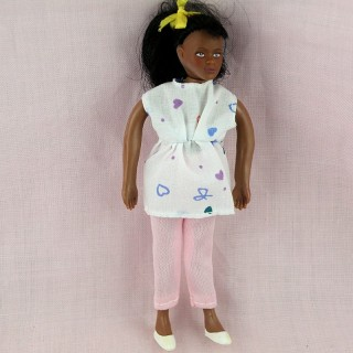Black mother to be 1/12 for dollhouse 14 cms