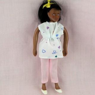 Poupée miniature 1/12 femme enceinte 14 cm