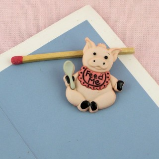 Shank plastic Button PIG fun
