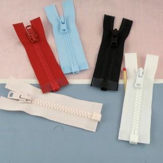 Fermeture éclair àglissière séparable 7 cm habits poupée