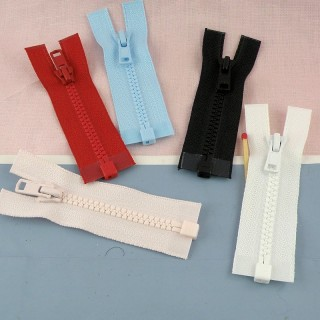 Separating Tiny zipper for doll, small 8 cms