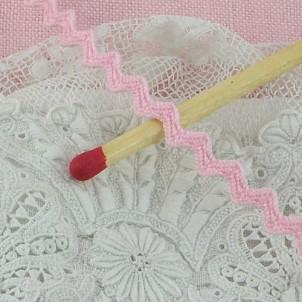 Zackenlitze Zickzackband aus Baumwolle 4 mm