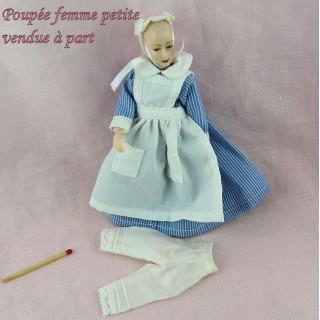 Tenue gouvernante 1900 poupée 1/12 habits miniatures poupée maison 1/12eme