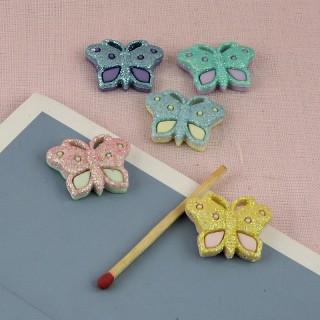 Botón de decoración de mariposa 2 cm