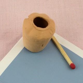 Jarra pote flores barro cocido miniatura casa muñeca