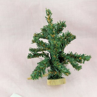 Doll house miniature Chritmas tree 25 cms.