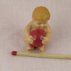 Poupon minuscule miniature pour poupée 3 cm