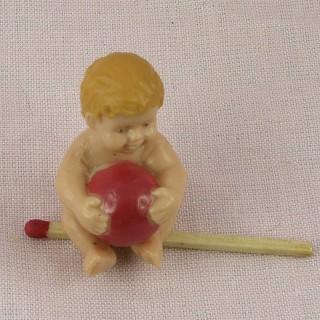 Poupon miniatura minúscula para muñeca