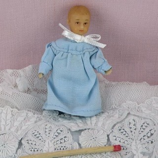 Miniature baby doll 1/12 articuled 5 cms