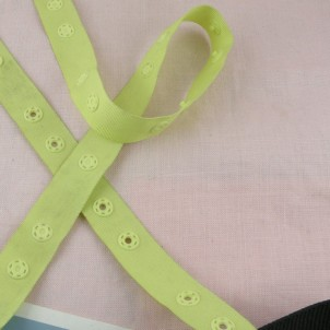 Snap tape, ribbon with grommets, Plastic Snap-Tape.