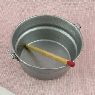 Rusted tub metal miniature for doll house,bucket 3 cm