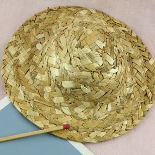 Sombrero de paja a bordo de 12 cm.