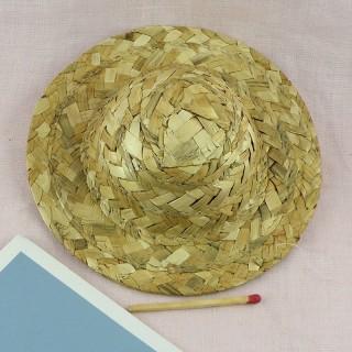 Sombrero paja a bordo 10 cm.