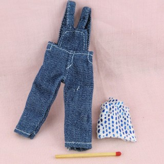 Pants and sweater miniature doll  dollhouse 1 / 12eme