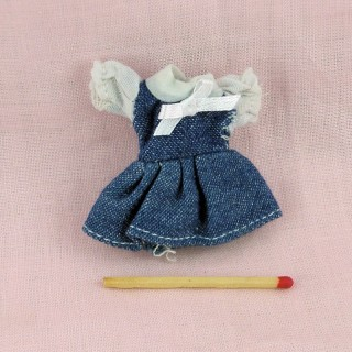 Dress miniature clothes headstock house 1/12ème