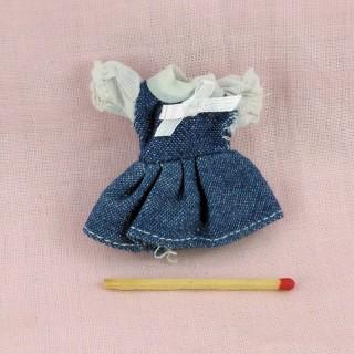 Kleid Miniaturgewänder Puppe Haus 1/12ème
