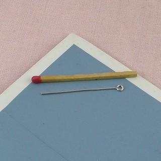 Clavo a cabeza anillo tronco apresto joyas 5 cm