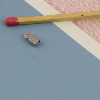 Miniature Jewelry closure crimp end claps