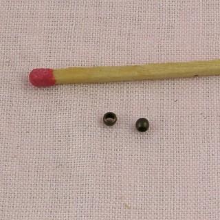 Runde Perlen Falzen 2 mm zu zermalmen.