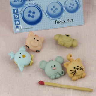 Animals for baby buttons,...