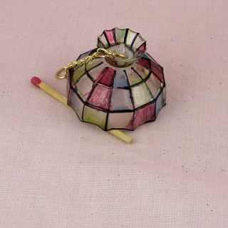 Miniature Tiffany hanging lamp doll house